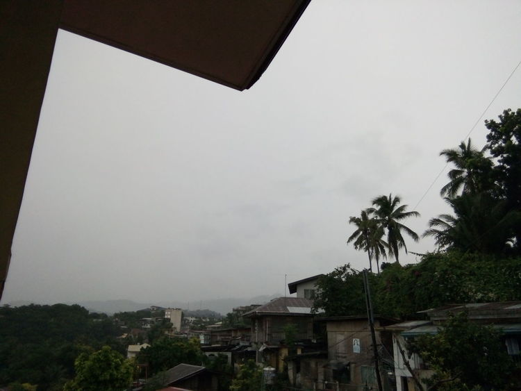 Hello World Clouds And Sky Leaves Houses And Windows Rofftop Overhead View MyEyes♥ KarenSuPhilippines