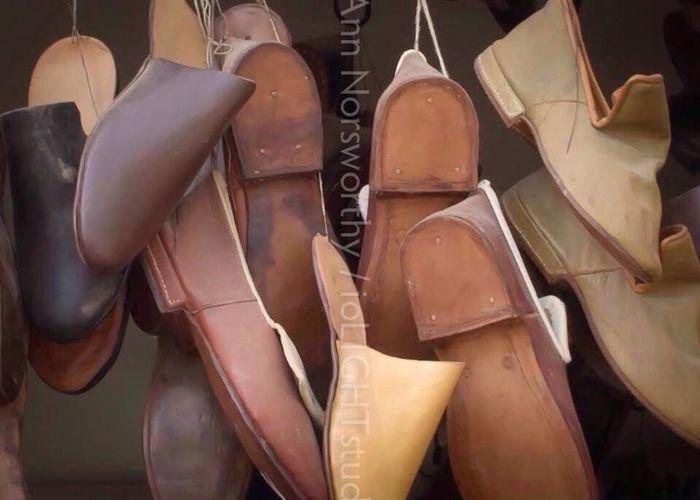 """©Ann Rigley """"t h e s h o e m a k e r"""" Shoes IoLIGHTstudios  Cobblers' Shop... Old Shoes"""