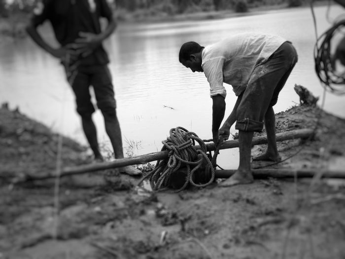 Manual Worker Working Men Teamwork Occupation Protective Workwear Strength Construction Worker Activity Effort