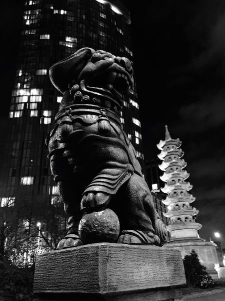 B&w Street Photography Birmingham Pagoda Roundabout Art Raddisonblu Learn & Shoot: After Dark