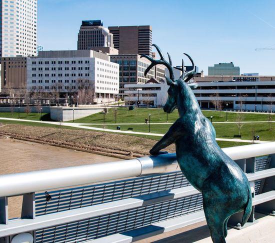 Sculpture Deer Skyline EyeEm Enjoying Life Hello World Urban Spring Fever