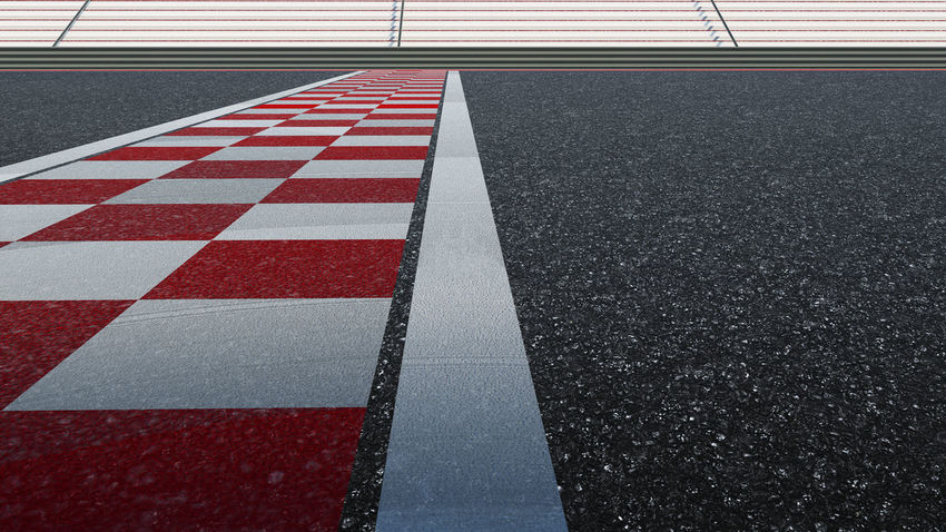 Asphalt City Competition Direction Dividing Line High Angle View Marking Motor Racing Track No People Red Road Road Marking Sign Sport Sports Race Sports Track Street Surface Level Symbol Track And Field Transportation White Color