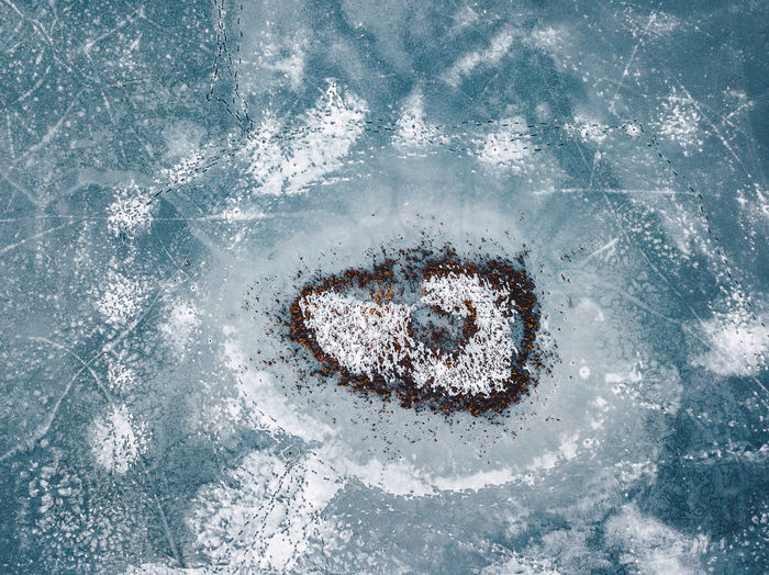 Heart shaped, frozen Lake Drone  Frozen Frozen Lake Ice Winter Aerial View Cold Day Europe Heart Shaped  High Angle View Island Mavic Mavic Pro Nature No People Outdoors Snow Travel Destinations Water Go Higher