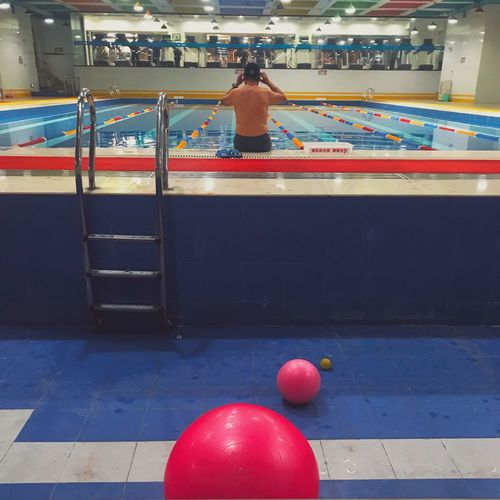 Indoors  Leisure Activity Multi Colored Sport Lifestyles One Person Pool Ball Men