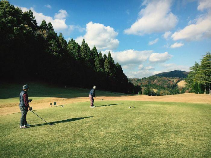 Golf Green Color Sport Playing Golf Club Thanks  Enjoying Life 🏌️休日のゴルフ⛳️