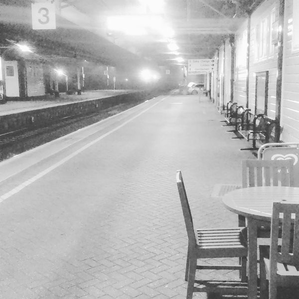 Misty morning at Newton Abbot Railway station Devon Railway Station Great Western Railway Winter Lonely Lonliness Mist Blackandwhite Black And White Black & White