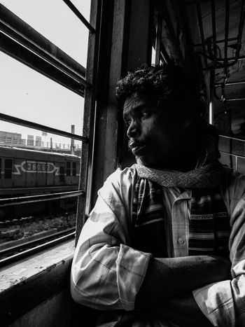 One Person Only Men One Man Only Adults Only Sitting Outdoors Men People Day Young Adult Day Dreaming Adult Sky Train Trainphotography Welcome To Black The Street Photographer - 2017 EyeEm Awards