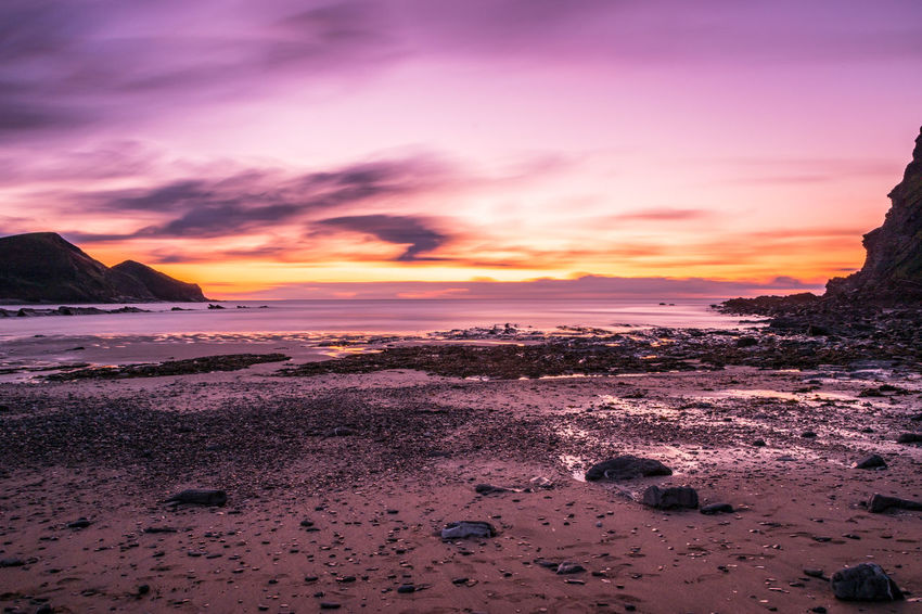 Cornwall Beach Cornwall Photography Crackington Haven Beach Beauty In Nature Cloud - Sky Cornwall Cornwall Uk Horizon Over Water Landscape Nature Outdoors Scenics Sea Shore Sky Sunset Tranquil Scene Tranquility Water