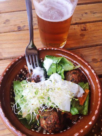 Falafel Salad Salad And Beer Beer Craftbeer Beert And Salad