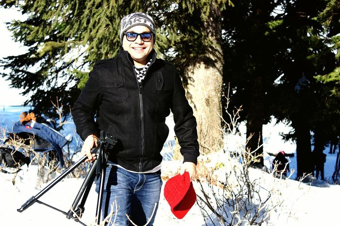Man, Young Men Gulmarg Masti Photographer Snow Snow Day Man In Black First Eyeem Photo