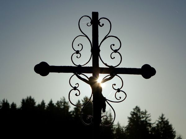Close-up Cross Feldkreuz Focus On Foreground Light Low Angle View Metal Old-fashioned Single Object Sun Beams