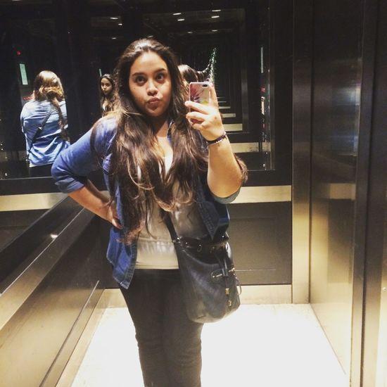 Last night at work Workselfie Elevator