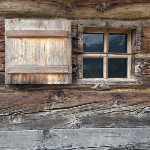 Full frame shot of old wooden house