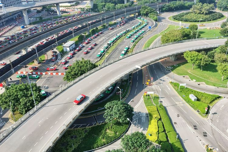 Transportation Aerial View High Angle View Car City Mode Of Transport City Life Land Vehicle Traffic Road Outdoors Crowd Driving Architecture Hong Kong