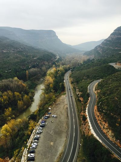 Roads Mountains Nature Foggy Barcelona Catalunya