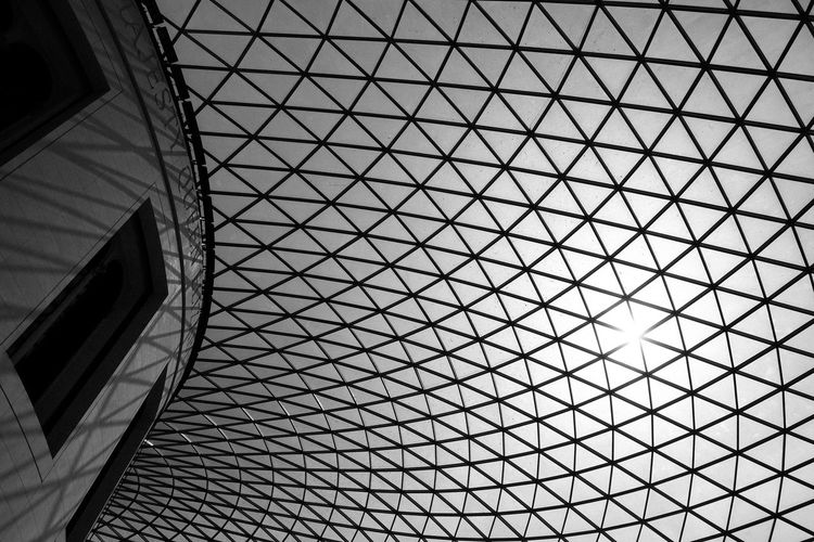 Architecture Architecture Backgrounds Black And White Built Structure City Day Full Frame Futuristic Indoors  Low Angle View Modern Museum No People Pattern Sky