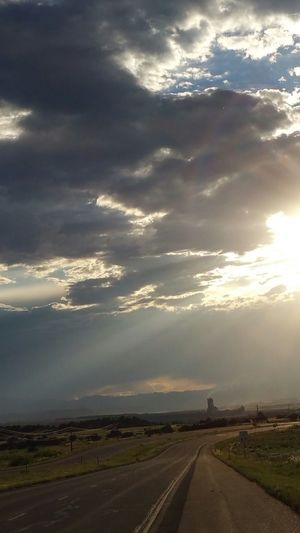 Industrial Like Sunset Rays From Above On Opportunities Cement Plant Mountains Clouds Sunsetting