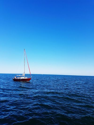 Water Blue Horizon Over Water No People Nautical Vessel Outdoors Floating On Water Sailboat Nature Sailing Oakville Ontario Samsung Galaxy S7