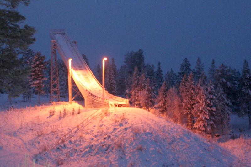 Kemijärvi, December 2010 Artic Circle Cold December Finland Kemijärvi Landscape Night No People Outdoors Ski Ski Jumping Ski Jumping Hill Snow Winter