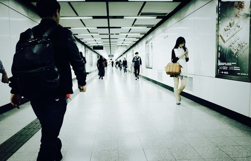 Ricoh GRlll Architecture Transportation Walking Public Transportation Real People Adult Group Of People Women Lifestyles Leisure Activity Indoors  Flooring Winter People Travel Direction City Life City Men Built Structure