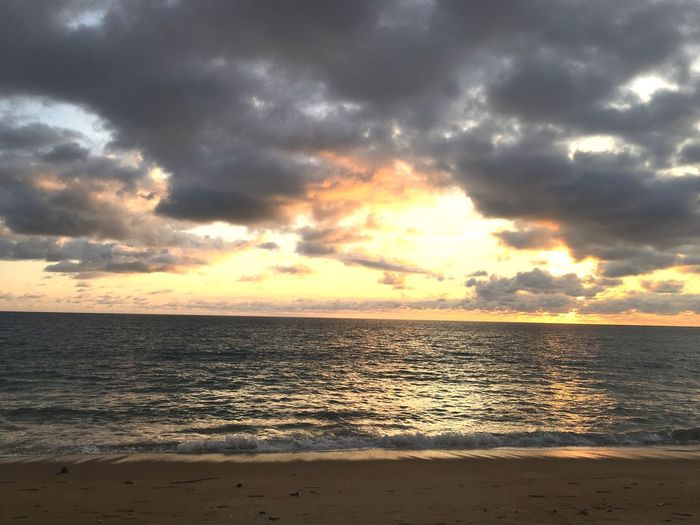 Sunset and sea beach Water Sky Sea Cloud - Sky Sunset Beauty In Nature Beach Scenics - Nature Horizon Over Water Land Horizon Nature Idyllic Sand Dramatic Sky Sunlight Outdoors