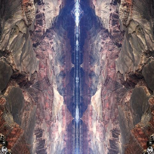 Into Another Dimension Mirrored Art Nature Na Abstract Psychadelic Backgrounds Pattern Full Frame Day Outdoors Close-up