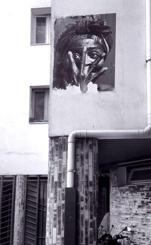 On my road this morning... Fresh 3 Streetphotography Street Art Fortheloveofblackandwhite