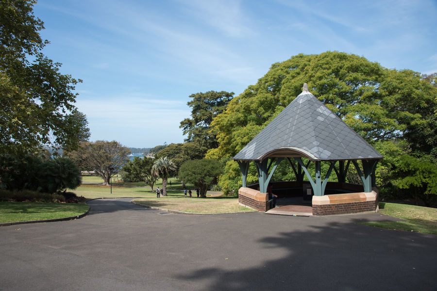 Sydney,NSW,Australia-November 20,2016: Footpath through the springtime greenery at the Royal Botanic Gardens in Sydney, Australia. Australia Botanical Gardens City Break Footpath Garden Architecture Gazebo Growth Path Royal Botanic Gardens Tourist Attraction  Tourists Tree Built Structure Cultivated Diminishing Perspective Farm Cove Garden Landscape Nautical Vessel Peaceful Place Shelter Spring Sydney Travel Destinations Weekend Activities