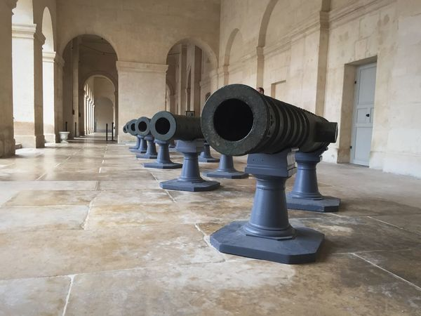 History Indoors  Day Canon Gun Museum Musee Invalides  France French Histoire City Paris