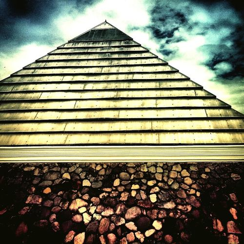 We built this on a solid rock forever at the top like a pyramid. Pyramid Dark Skies Archirectural Mystery Illuminati Steel Photography Check This Out