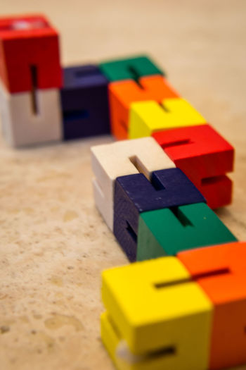 Bricks Childs Toy Close-up Colour Depth Of Field Detail Full Frame Indoors  Selective Focus Single Object Still Life Table Top Toy Wooden