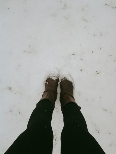 it actually snowed today, and i didn't go to school. i'm happy. Winter Snow Fromwhereistand Leggings & Boots