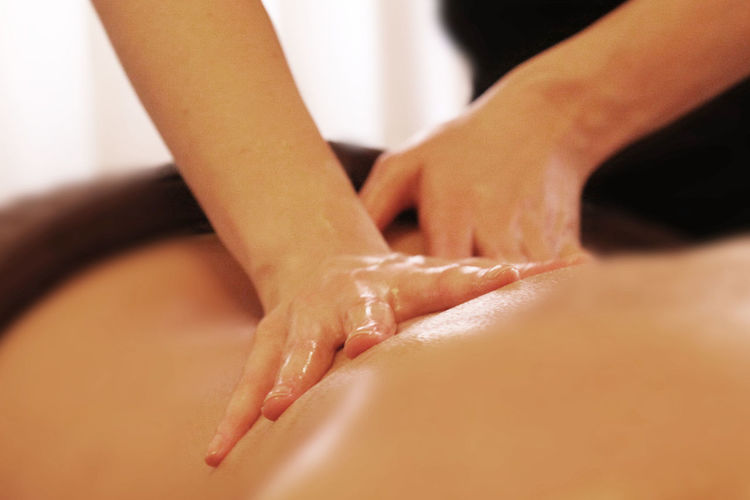 Close-up Human Body Part Human Hand Massage Oilmassage Part Of Relaxing Spa