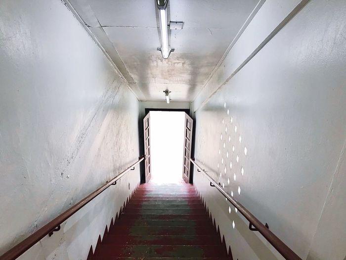 Staircase in corridor