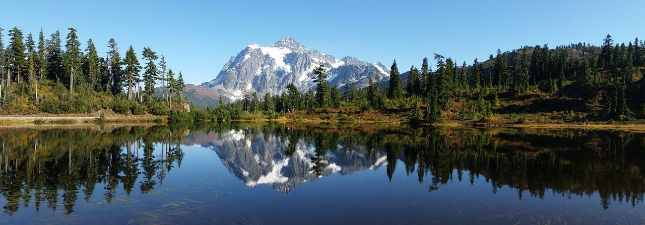 Mountain View Scenic View Picture Lake Reflections Reflections In The Water Mountain Lake Bellingham, Washington