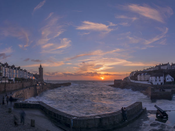 Architecture Cloud - Sky Colourful Cornwall Outdoors Porthleven Sea Sky Sunset Travel Destinations Water