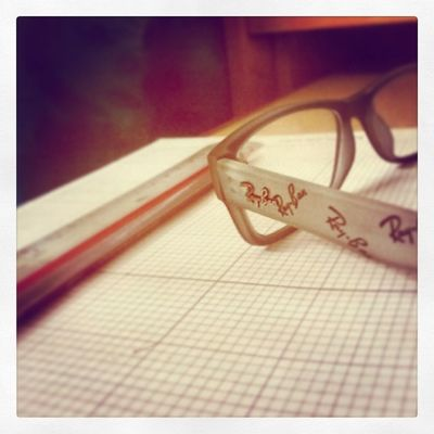 Instasnap Instapic Instastudy Rayban specs blue red pencil work lab math