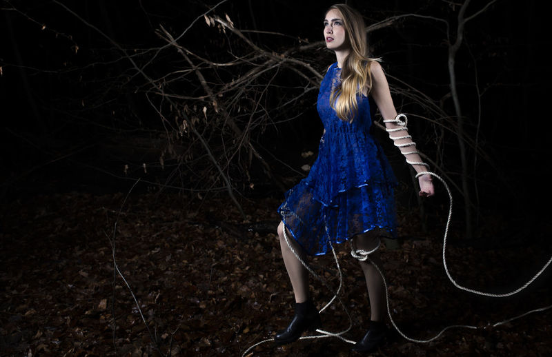 """Surfeit"" inspired by movie Melancholia Blue Casual Clothing Cold Conceptual Photography  Dark Dress Freedom Girl Light Melancholia Nature Night Portrait Stepping Out Surfeit Winter"