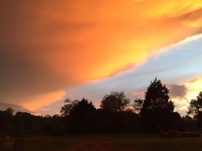 EyeEmNewHere Sunset Sky Cloud - Sky Nature Scenics Beauty In Nature Orange Color No People Outdoors Unusual View