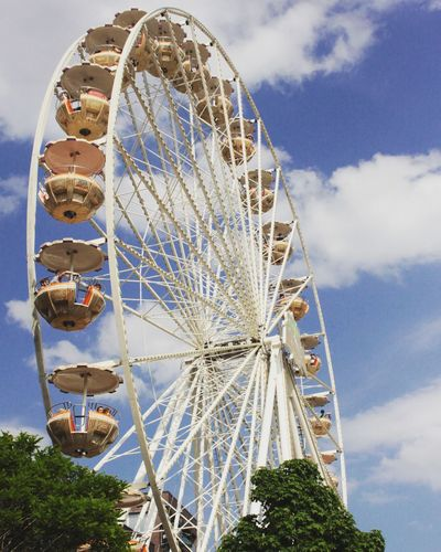 Hamburger Hafenfest EyeEm Selects Ferris Wheel Arts Culture And Entertainment Traveling Carnival Rollercoaster Fun Cloud - Sky