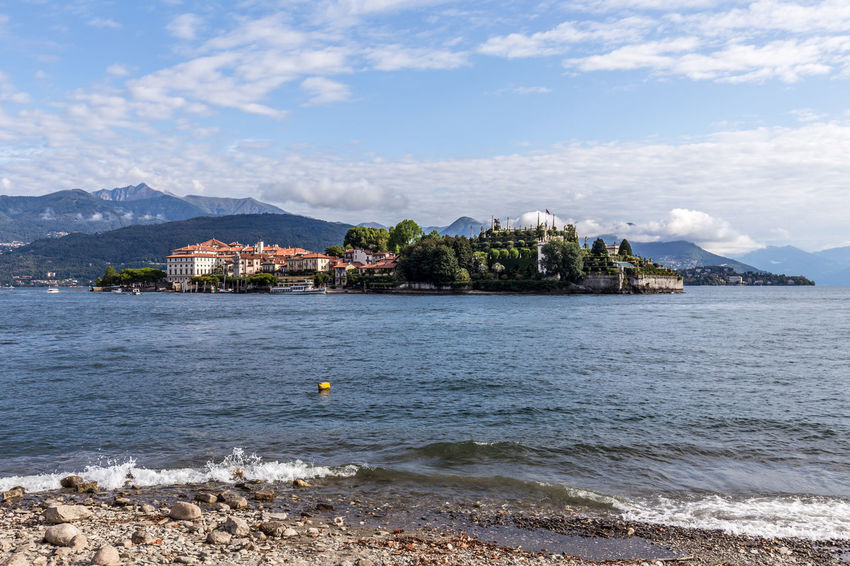 Lago Maggiore Scenery in Stresa, Italy Italy Italia Italien Lago Maggiore Lake Lake View Stresa Stresa Italy Isola Bella Nautical Vessel Boat Beauty In Nature Nature Day Outdoors Blue Sky Mountains Mountain And Sky