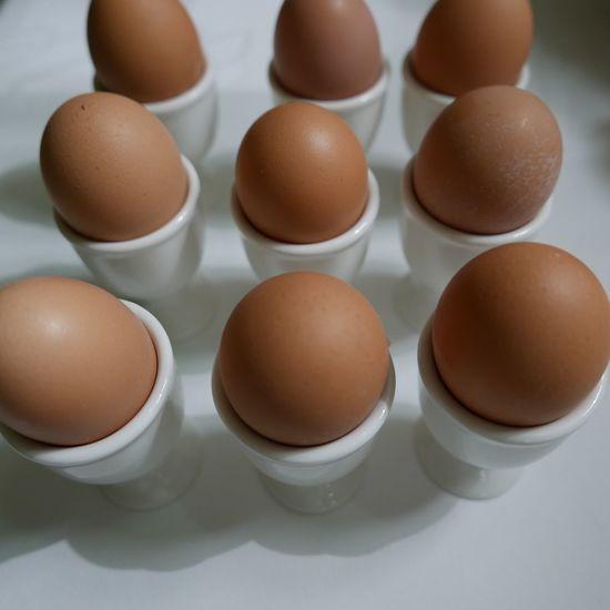 Eggs in egg cups Eggs Breakfast Morning Having Breakfast