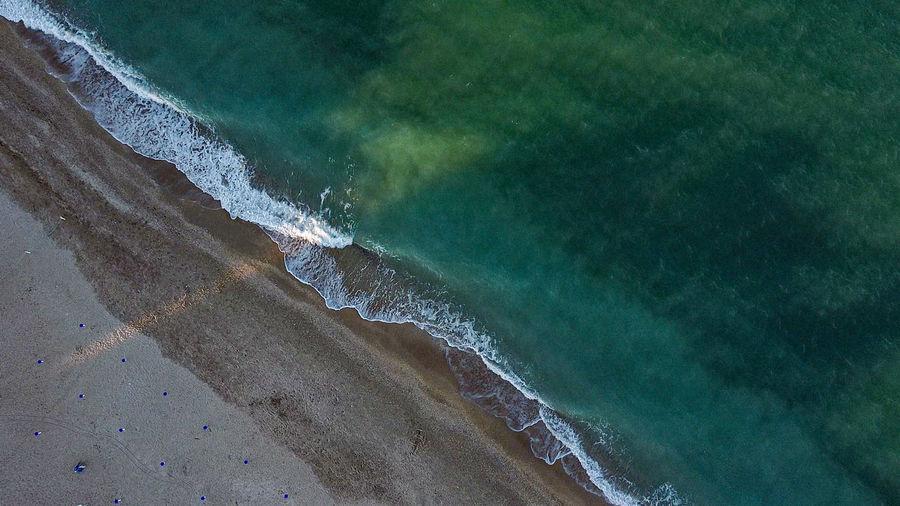 Aerial green sea
