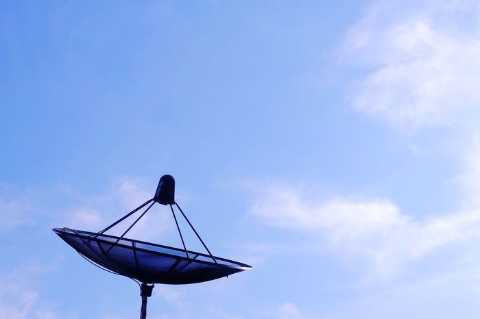 satellite dish and bluesky Communication Satellite Dish Satellite Cloud Blue Sky Bluesky Sky Blue Cloud - Sky Day No People Outdoors Technology Nature