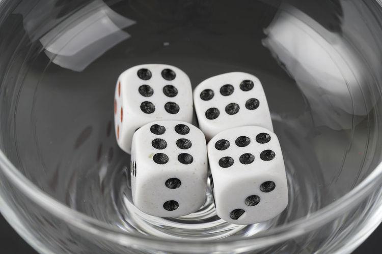 a dice in a