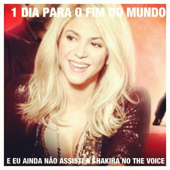 HumorShakir ístico: 1 Dia para o fim do mundo!! Shakirabrasil Shakira