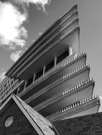 Watergate Blackandwhite Architecture Built Structure Building Exterior Low Angle View Sky Outdoors Roof City Day