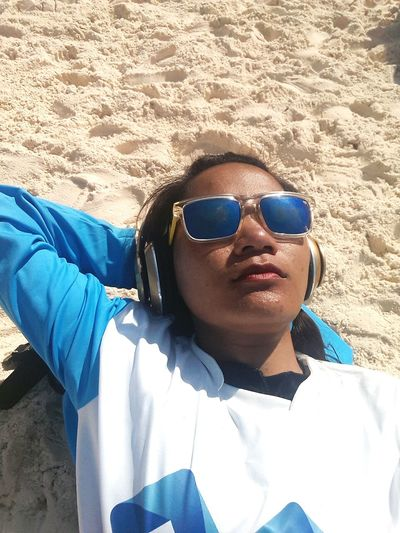 LETITTAN Blue Sunglasses Adults Only One Person Young Adult High Angle View Adult Headshot Portrait Sunbath Similan Island, Thailand Dreamsinderella EyeEmNewHere Dreamsinderellaphoto One Young Woman Only Lifestyles Only WomenLeisure Activity Sand Close-up Cheerful Day Outdoors