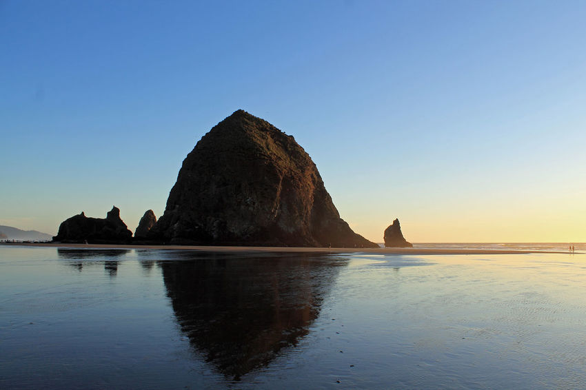 Beach Cannon Beach Cannon Beach, OR Coast Coastline Goonies Haystack Rock Landscape Nature Ocean Oregon Pacific Northwest  Pacific Ocean Reflection Sand Scenery Sunset Water West Coast The KIOMI Collection The Great Outdoors - 2016 EyeEm Awards