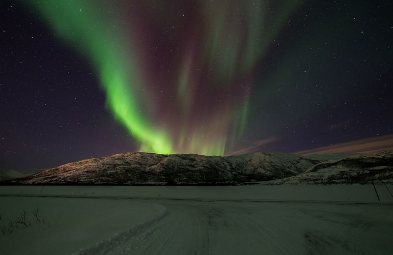 Landscape Beauty In Nature Winter Cold Temperature Norwegen Norway Mountain Icecold Outdoors Nordic Light Nordlichter
